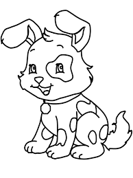 Small Picture Coloring Page Of Dog chuckbuttcom