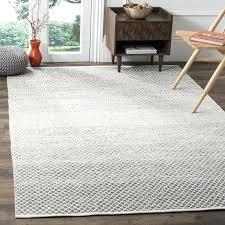 8x10 cotton rug handmade light grey ivory cotton rug 8 x 8x10 cotton rag rug 8x10