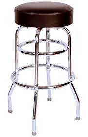 padded swivel bar stools.  Bar Richardson Seating 01952BLK Double Rung Backless Swivel Bar Stool With  Chrome Frame Black To Padded Stools F