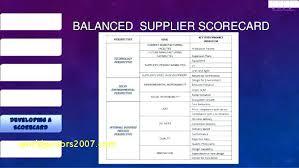 Supplier Balanced Scorecard Example Evaluation Xls Top Result