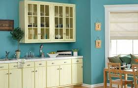 kitchen design wall colors.  Wall Sweet Painted Blue Color For Kitchen Design With White Cabinetry And  Molding Wooden Dining Table With Kitchen Design Wall Colors