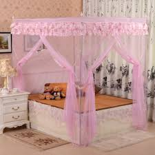 canopy bed curtains for girl's room - bedroom curtain ideas