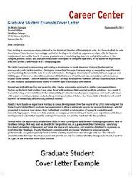 Graduate Cover Letter Examples Cover Letter Student Affairs
