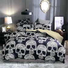 sugar skull bed set lot sugar skull printed queen comforter sets bedding king twin size luxury