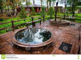 Outdoor Jacuzzi Sauna Pool And Jacuzzi With Rest Recreation Area Outdoor In Luxury
