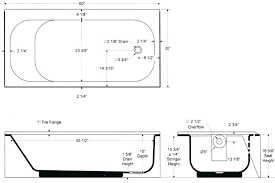what is the standard size of a bathtub standard shower size drop in tub sizes bathtubs