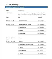 Sales Agenda Templates Sales Presentation Training Agenda