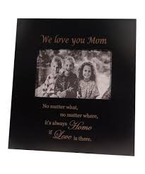 black we love you mom picture frame