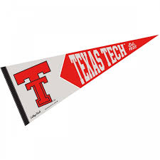 texas tech red raiders college vault and vintage pennant
