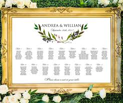 Wedding Seating Chart Printable Greenery Laurel Seating Chart Wedding Seating Arrangement Wreath Seating Chart Digital Download