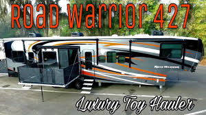 new 2017 heartland road warrior 427 luxury toy hauler in depth walkaround tour you