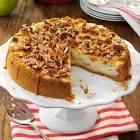 autumn caramel apple cheesecake pie