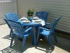 diy crafts spray paint old ugly plastic patio furniture i did this today and now have a beautiful turquoise set diy u0026 crafts top furniture sets i78