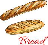 french bread clipart.  French Bread Sketch With French Baguette And Long Loaf On French Clipart U