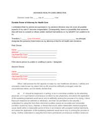 Sample Advance Directive Form Beauteous How To Write A Living Will With Pictures WikiHow