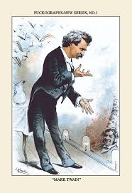 things you not know about mark twain lists cartoon depicting twain on the lecture circuit credit transcendental graphics getty images