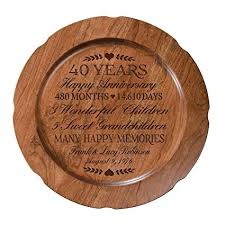 personalized 40th wedding anniversary plate gift for couple custom happy fortieth anniversary gifts for her
