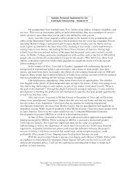 personal statement sample residency