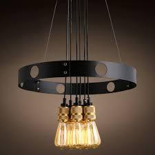 Top Grade Vintage Luxury Pendant Lights Loft Iron Hoop Double Used Pendant  Lamp Parlor Cafe Bar Lighting Decor-in Pendant Lights from Lights & Lighting  on ...