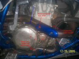 kickstart installation walkthrough yamaha yfz450 forum yfz450 clutch side as well as the singles from the water pump oil filter cover and the two from the clutch cover which are shown below numbers 11 14