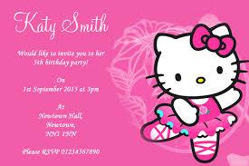 Hello Kitty Invitation Pink Hello Kitty Childrens Party Invitations