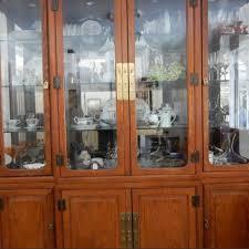 big solid oak china cabinets