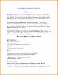 Call Center Resume Sample Call Center Resume Examples Fresh 100 Resume Samples for Call Center 78