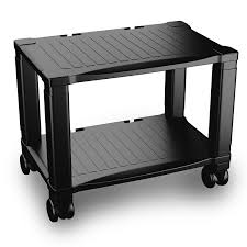 com printer stand with wheels 2 tiers shelf small under the desk machine stand cart mini home office rolling mobile storage solution office