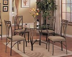 image unavailable image not available for color 5pc round metal dining table chairs