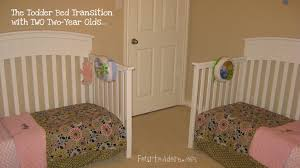twins in toddler beds – four to adore
