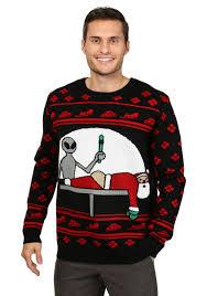 Men\u0027s Santa Probe Christmas Sweater Ugly