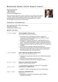 Procurement Specialist CV. M o h a m e d A b d e l H a l i m S a y e d I s  m a i l Riyadh, Saudi Arabia +966 ...