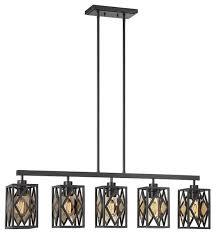 savoy house putman 40 5 light island chandelier english bronze transitional kitchen