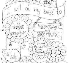 Coloring Pages Girl Scout Coloring Pages For Brownies Brownie