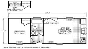 micro 12 x 32 single wide hud manufactured home