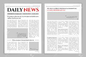 Newspaper Template Design Royalty Free Cliparts Vectors And Stock