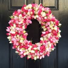 spring front door wreaths39 DIY Spring Wreaths for the Front Door That You Can Make