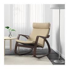 POÄNG <b>rocking</b>-<b>chair</b>, <b>brown</b>/Glose eggshell | IKEA Indonesia