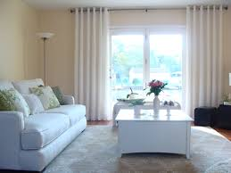 White Curtains For Living Room Modern Living Room With High Window Panels Also Comes With White