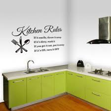 Wall Sticker Removable Kitchen Rules Words Wall Stickers Decal Home Decor Modern 2362x1299