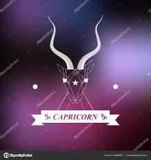 Znamení Zvěrokruhu Kozoroh Horoskop Tetování Vintage Odznak