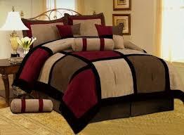 8 pc modern black burdy red brown