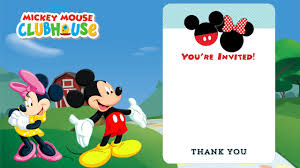 disney printable birthday invitations invitations design blank mickey mouse clubhouse invitation