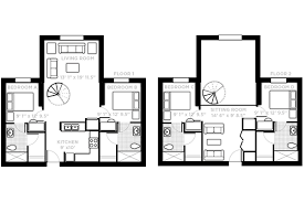 loft apartment with kitchen living room upstairs sitting room and 4 bedrooms