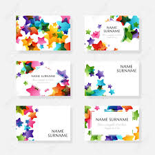 Elements Of Design For Kids Creative Kids Design Collection Vector Cards With Colorful Stars