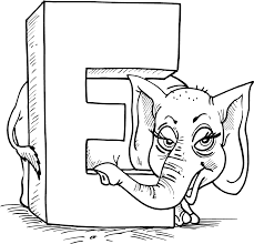 Small Picture Letter coloring pages e for elephant ColoringStar