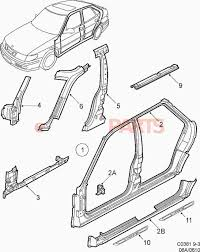 car frame diagram diagram door frame diagram 9 3 car body external parts sheet