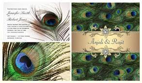 Peacock Invitations Peacock Wedding Invitations Customizable Peacock Invitations