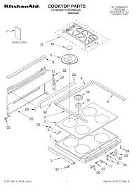 Kitchenaid Range Top Parts 5 Burner Gas Convection Oven Diagram Of Kitchenaid Range Top Parts