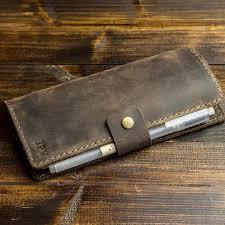 com pegai personalized checkbook cover distressed leather checkbook wallet checkbook case clark chestnut brown handmade